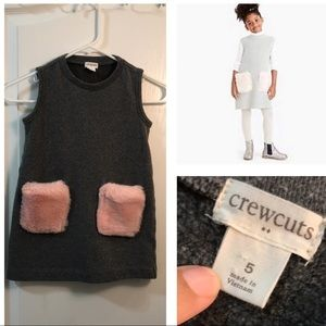 crewcuts  furry pocket dress toddler size 5